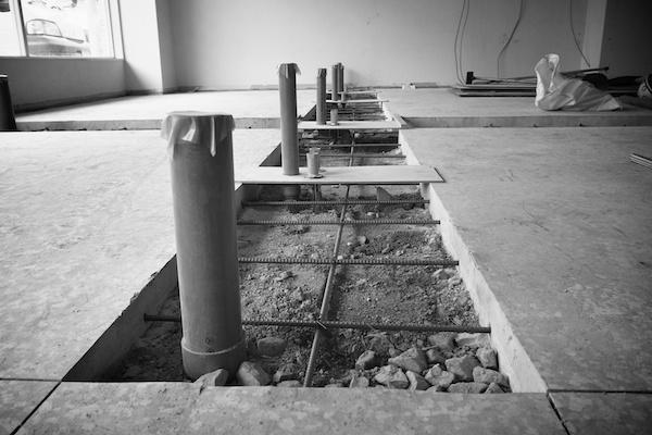 美容室の排水管