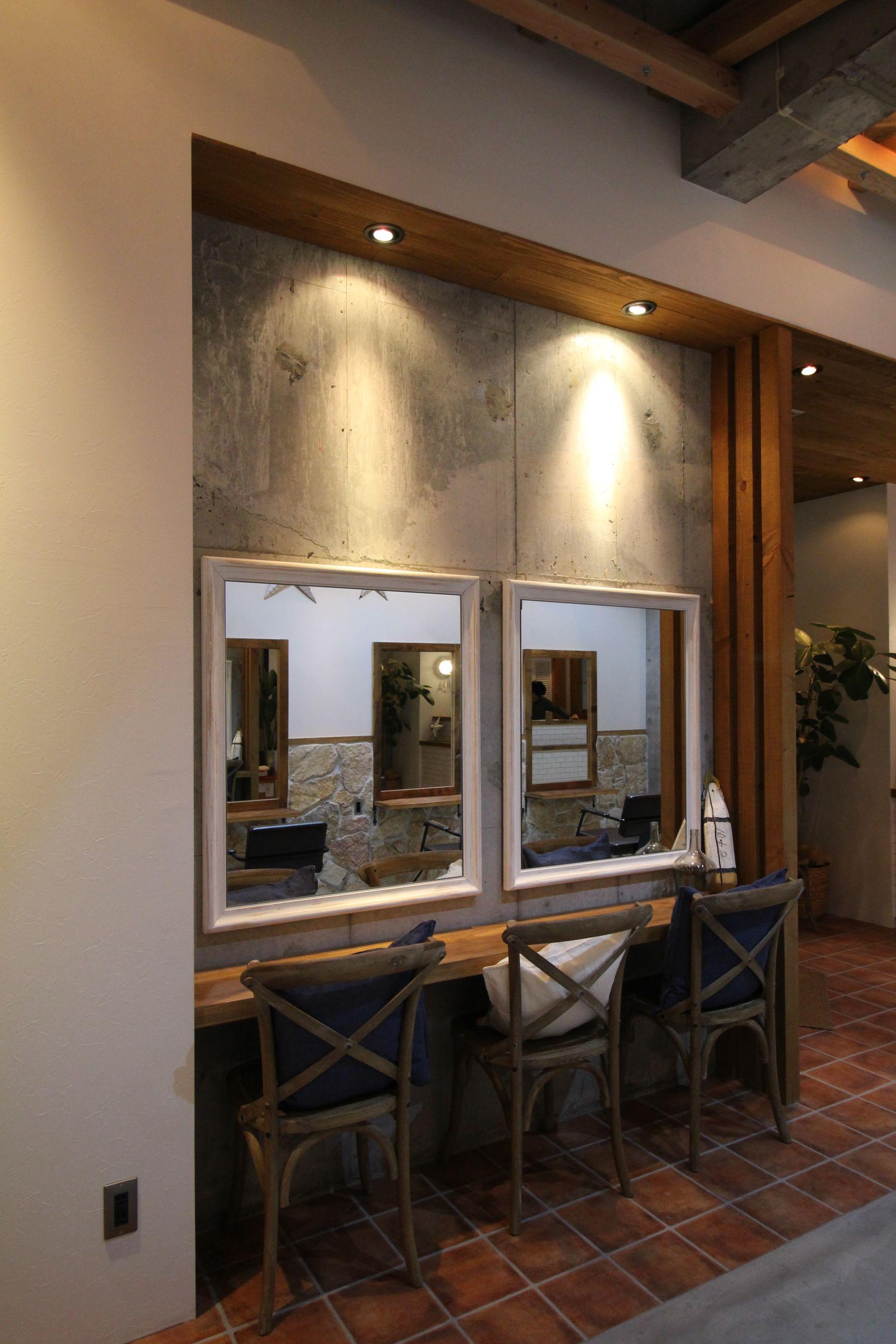 渋谷区の美容室内装デザインの写真