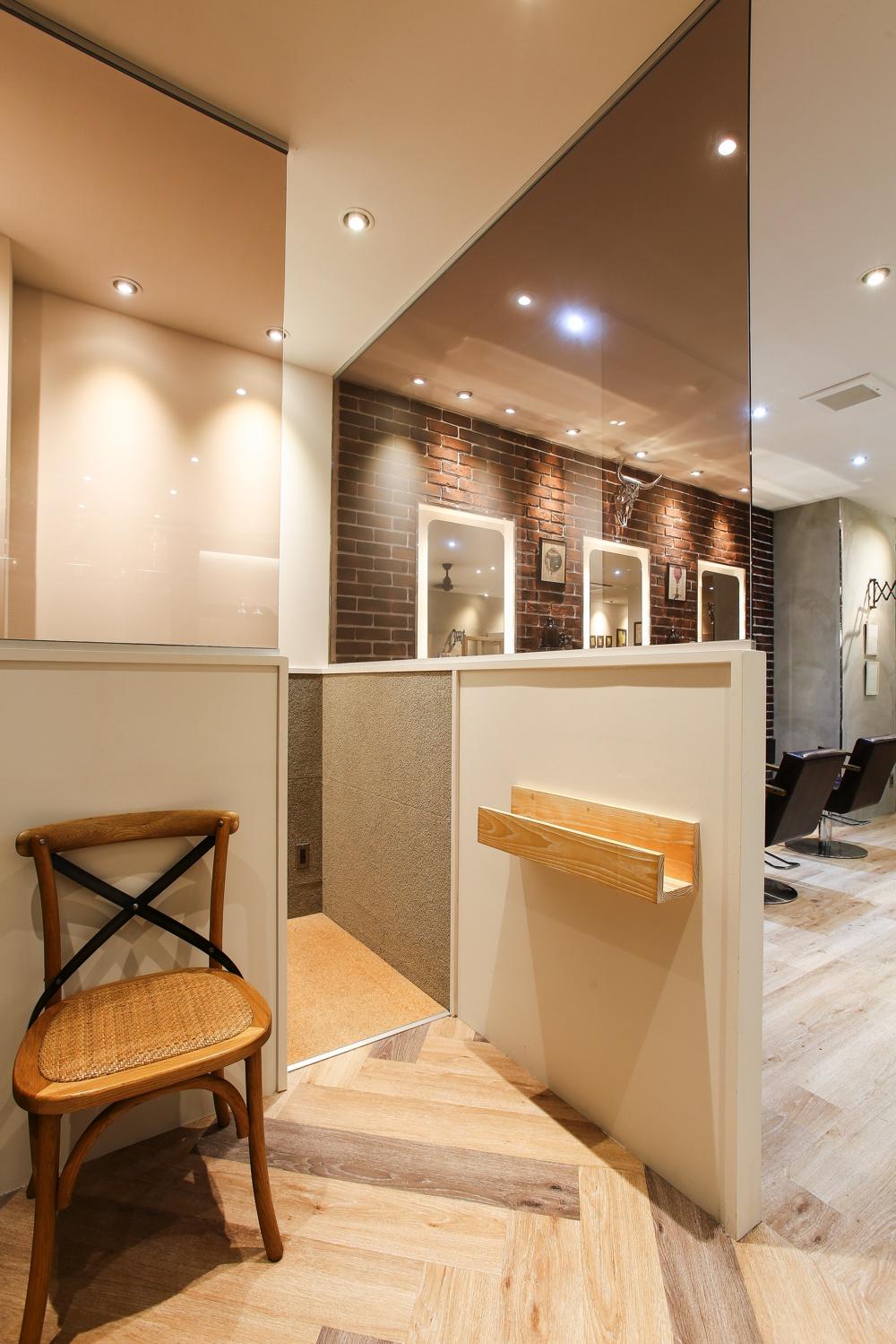 ブルックリンスタイルの美容室、ヘアサロンの内装デザイン