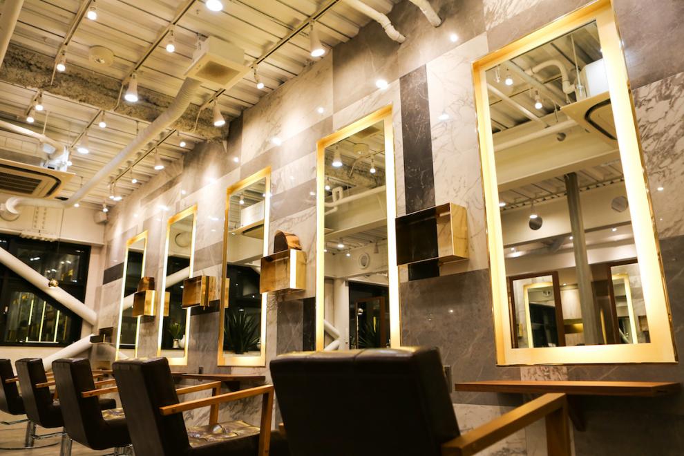 美容室の内装デザイン設計 ヘアサロン 施工 AUBE